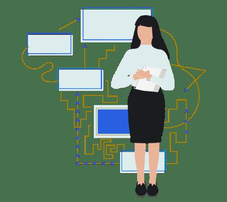 Project management office methodology illustration