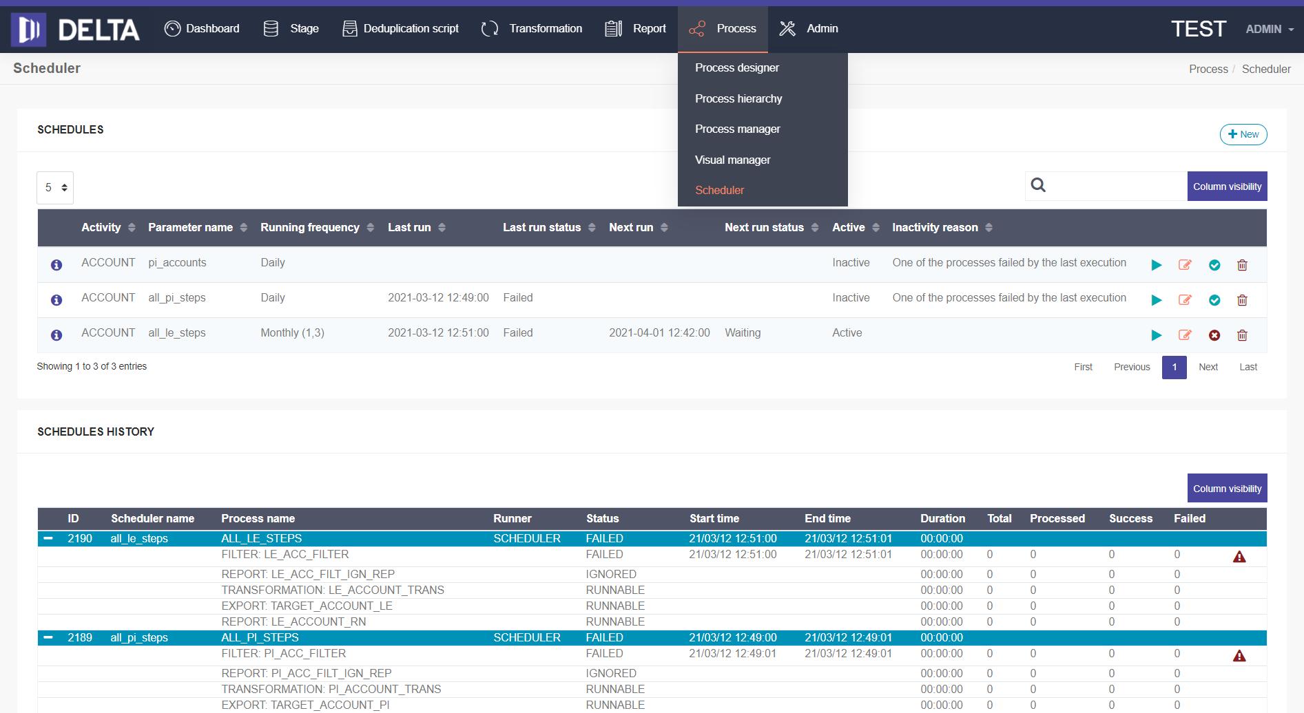 Delta migrációs eszköz képernyőkép 2021
